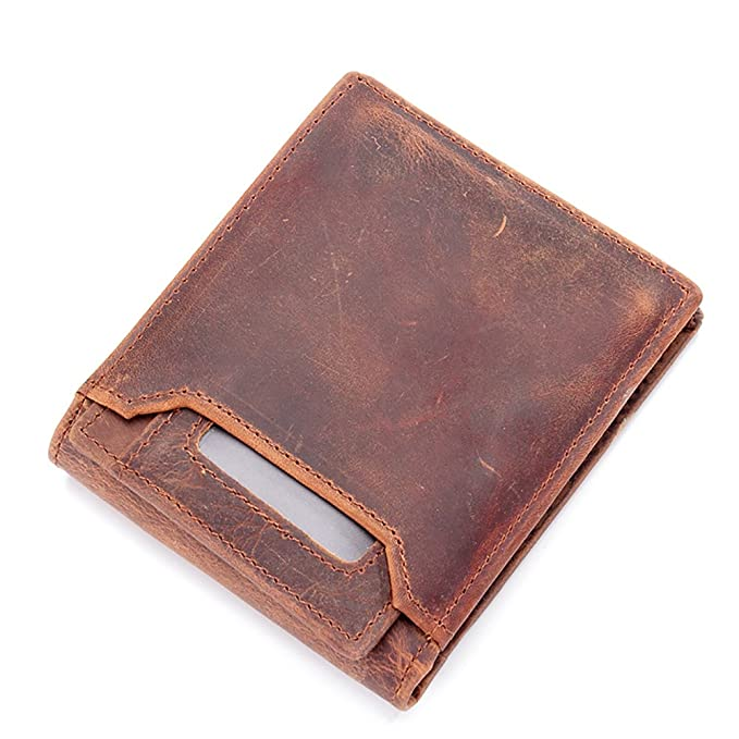 6c243ff0e652 Image Unavailable. Image not available for. Color: Mens Leather Compact Card  Case Wallet ...