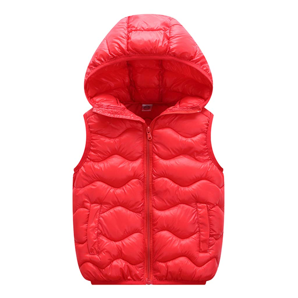 Kids Hooded Down Gilets Toddler Body Warmers Sleeveless Lightweight Waterproof Winter Outfits 3-4 Years Shenzhen Windy Trading Co. Ltd