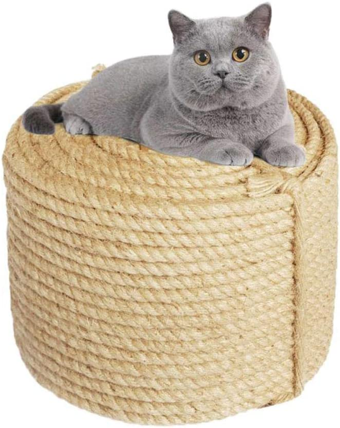 MOUHIV 8MM Yute Cuerda para Reparar y Reemplazo de Gato Rascarse ...