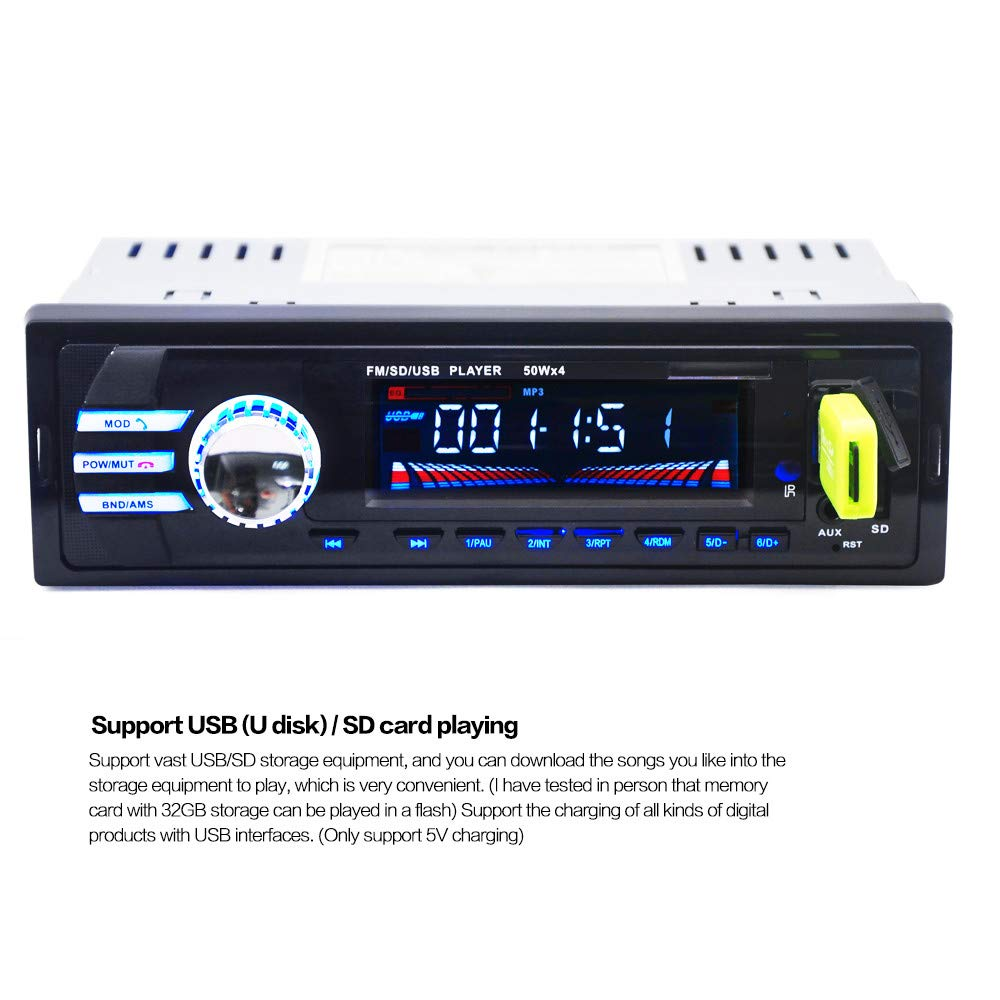 Amazon.com: SMOXX Bluetooth Wireless Car Stereo Radio Audio MP3 Player In-Dash USB FM SD AUX Car Supplies Accessories/Replacement Parts: Home Improvement