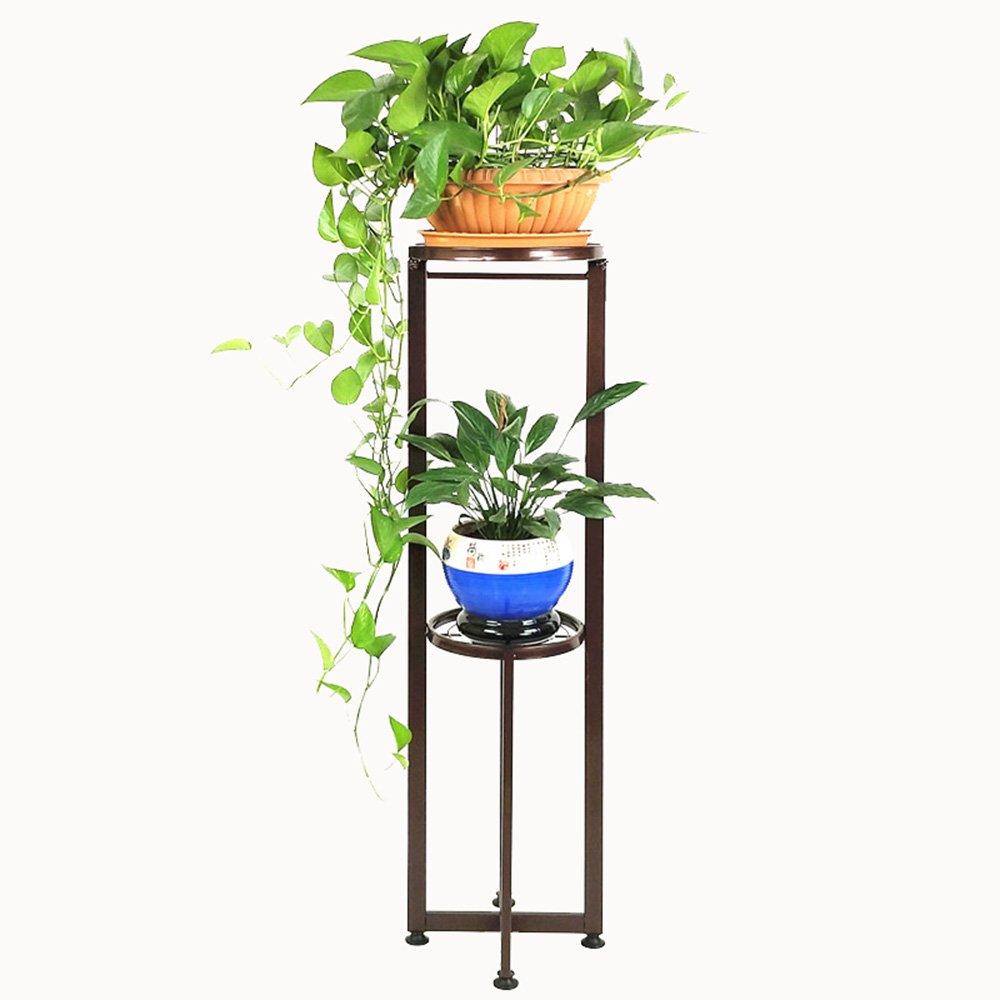 FEIFEI フラワーラックアイアンアートフロアインテリア多層リビングルームバルコニー屋内と屋外の緑の植物フラワースタンド(26 * 26 * 106CM、カラー多目的) (色 : 01) B07DPBF4KT  1