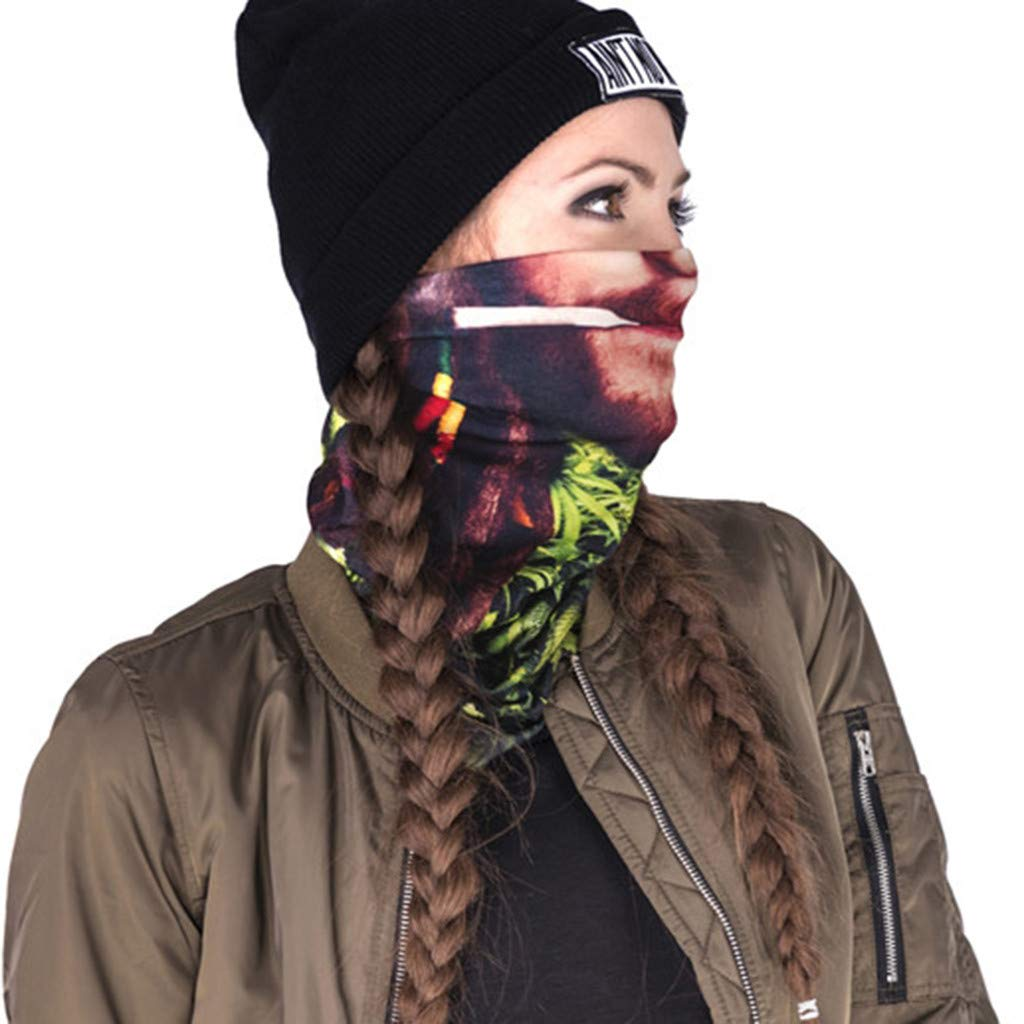 Motorcycling Neck Gaiter Headband Haluoo Headwear,Head Wrap Neck Balaclava Sweatband for Fishing Running Face Shield Magic Scarf Fishing Mask Face Bandana Mask Tube Mask Hiking