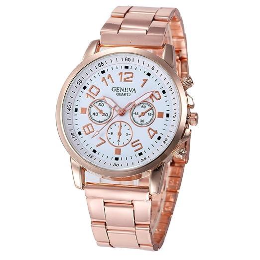 Reloj Niña Reloj Análogo De Cuarzo Deportivo De Acero Inoxidable, Hora De Cuarzo: Amazon.es: Relojes