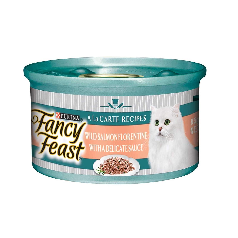 FANCY FEAST A LA Carte Wild Salmon Florentine 24X85G (CFFAWSF85X24)