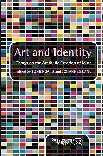 Amazoncom Art And Identity Essays On The Aesthetic Creation Of  Art And Identity Essays On The Aesthetic Creation Of Mind Consciousness  Literature  The Arts