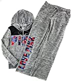 Victoria's Secret Pink Hoodie and Sweat Pants Set Heather Night Small