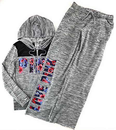 Victoria's Secret Pink Hoodie and Sweat Pants Set Heather Night Small (Victoria Sweatpants)
