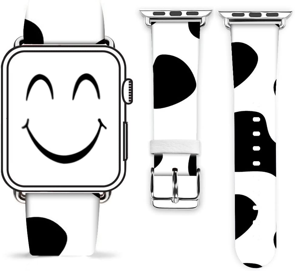 Cow Band for iWatch 38mm 40mm,Gifun Leather Band Replacement Fashion Band Strap for 38mm 40mm Series 6/5/4/3/2/1 - Nice Cow Print