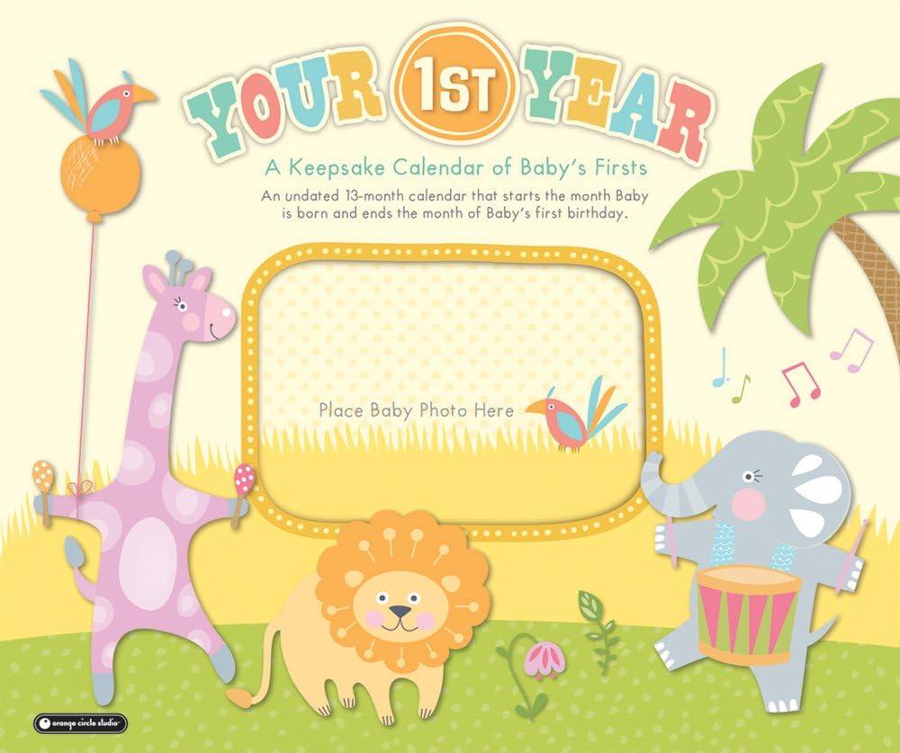 Orange Circle Studio 13-Month Your First Year Undated Keepsake Wall Calendar (51133)
