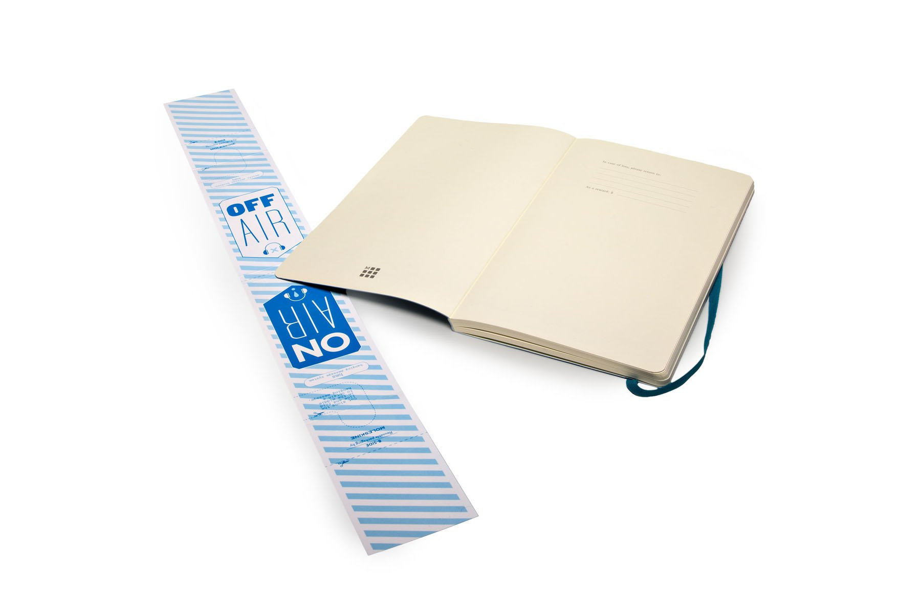 Moleskine Classic Notebook Large (5 x 8.25''), Dotted Pages, Underwater Blue, Soft Cover Notebook for Writing, Sketching, Journals by Ingramcontent (Image #7)