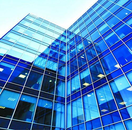 HOHOFILM 2Mil VLT 40/% Blue Clear Solar Film Tint Decorative Window Glass Privacy Film Residential Tint152cmx50cm