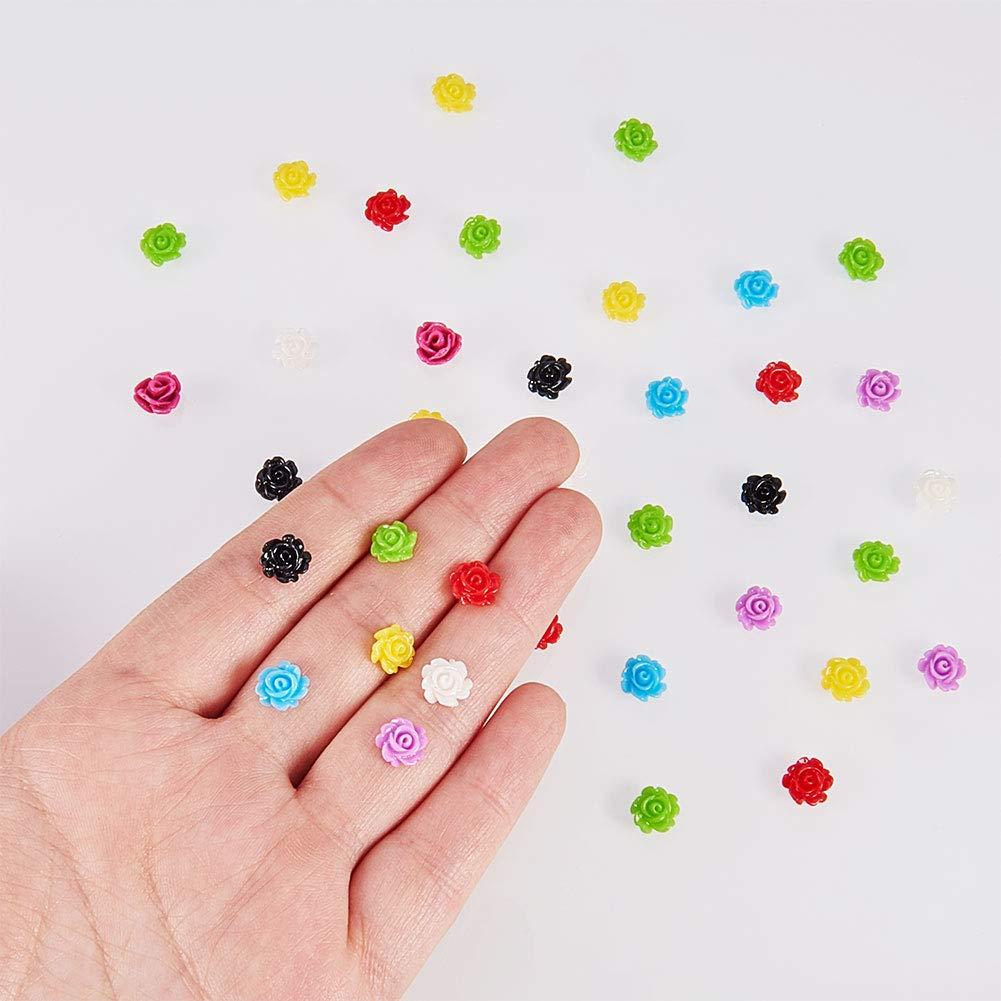 decorazione ideali per scrapbooking colori misti confezione da 1.000/pezzi Fiori in resina con fondo piatto realizzazione di cartoline e inviti di matrimonio 7/x 3/mm Nbeads
