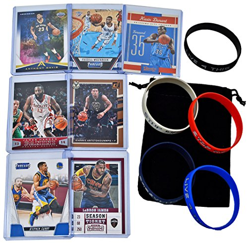 Lebron James Player Card - Basketball Cards: Stephen Curry, Lebron James, Giannis Antetokounmpo, Kevin Durant, James Harden, Russell Westbrook, Anthony Davis ASSORTED Card Gift Bundle
