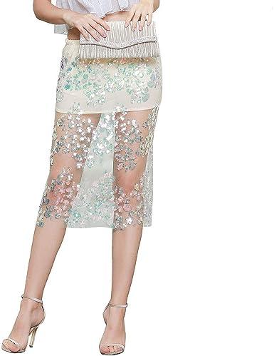 ROYAL SMEELA Faldas de cóctel Mujer Bodycon Falda Midi Perspectiva ...