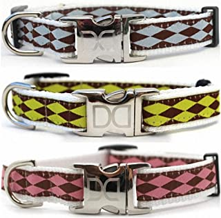 product image for Diva-Dog 'Harlequin' Custom Engraved Dog Collar