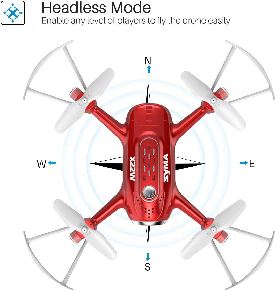 syma X22w mini drone review of headless mode