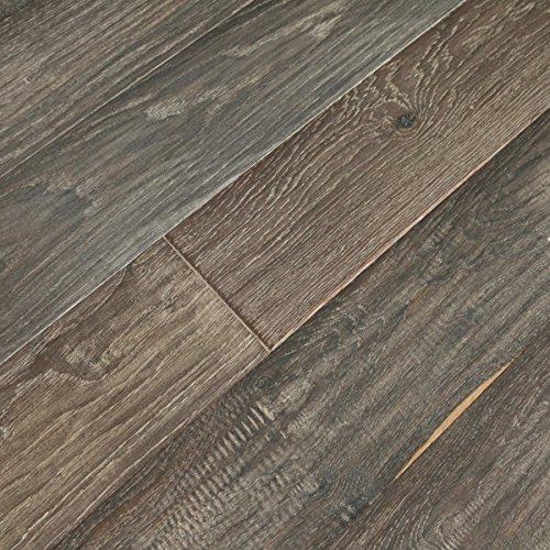 Vintage Ebony (Sample) - White Oak Wide Plank UV Oiled Engineered Hardwood Floor -