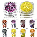 POYING 1 Bottle Holographic Glitter Cheese Powder Nail Art Mixed Sweet Colors Women DIY Nail Pigment Nail Art Decorations Dust SN17-24