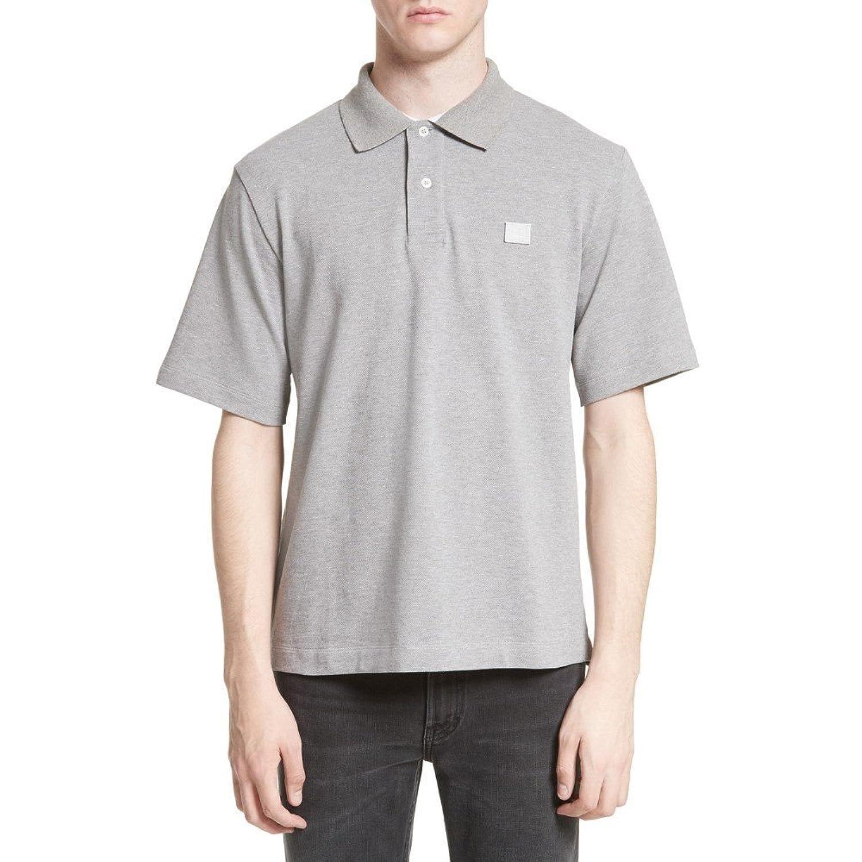 (アクネ ストゥディオズ) ACNE STUDIOS メンズ トップス ポロシャツ Newark Face Patch Polo [並行輸入品] B078JPBL6Z Large