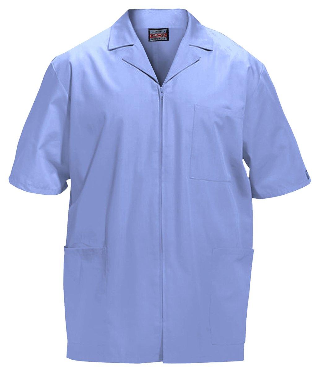Cherokee Workwear Men's Zip Front Jacket_Ciel_XX-Large,4300