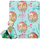 Disney Frozen Elsa Toddler Fleece Throw Blanket and Cuddle Pillow