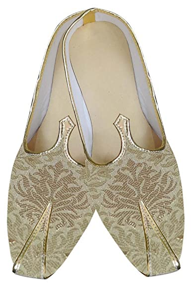 Mens Beige Indian Wedding Shoes MJ0122