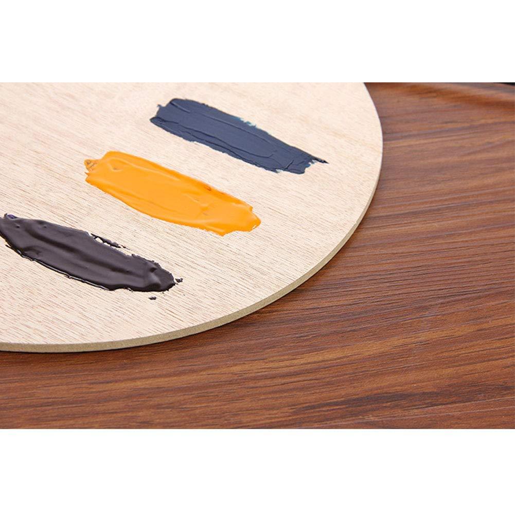 Matedepreso Palette Acquerello Artista Pittura a Olio Ovale in Legno Arte Forniture Vassoio Liscio Acrilico Piatto con Foro Pollice