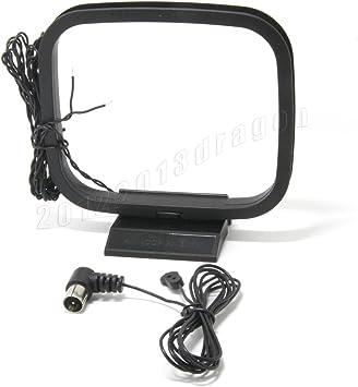 Antena Ancable FM COAX 75 Ohm y antena AM Loop para Denon AVR-3806/3808CI/4306/4308CI/4311CI/4806CI/4810CI/5308CI/5805CI