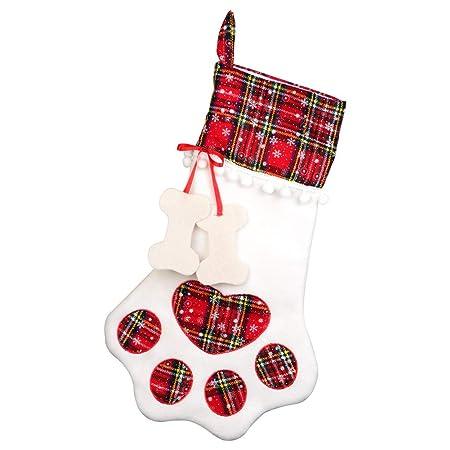 aparty4u large pet stockings christmas dog cat hanging red plaid