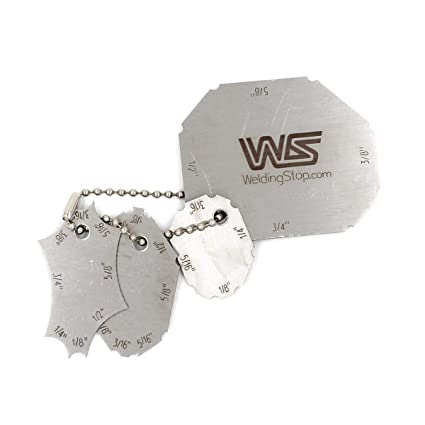 Calibre de cordón de soldadura inspección soldadura de tamaño de garganta soldado llave 4pcs