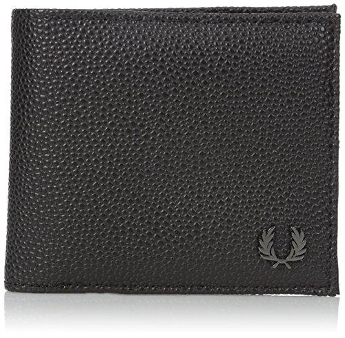 Grain Scotch (Fred Perry Men's Scotch Grain Billfold Wallet, Black, One Size)