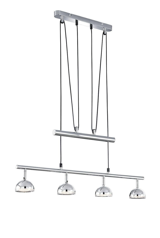 Trio Leuchten LED-JoJo-Pendelleuchte in Kunststoff chromfarbig 372810406
