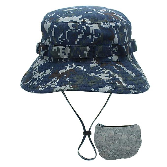 DORRISO Sombrero para el Sol UPF 50+ Anti-UV Vacaciones Viaje Cámping Playa  Gorro de Pesca 150858a512a