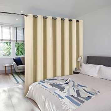 Room Dividers Curtain Screen Partitions   NICETOWN Room Darkening Wide  Width Curtain Panel For Glass Window