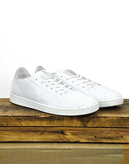 Woden Jane Perforated Trainers In White (5 UK)