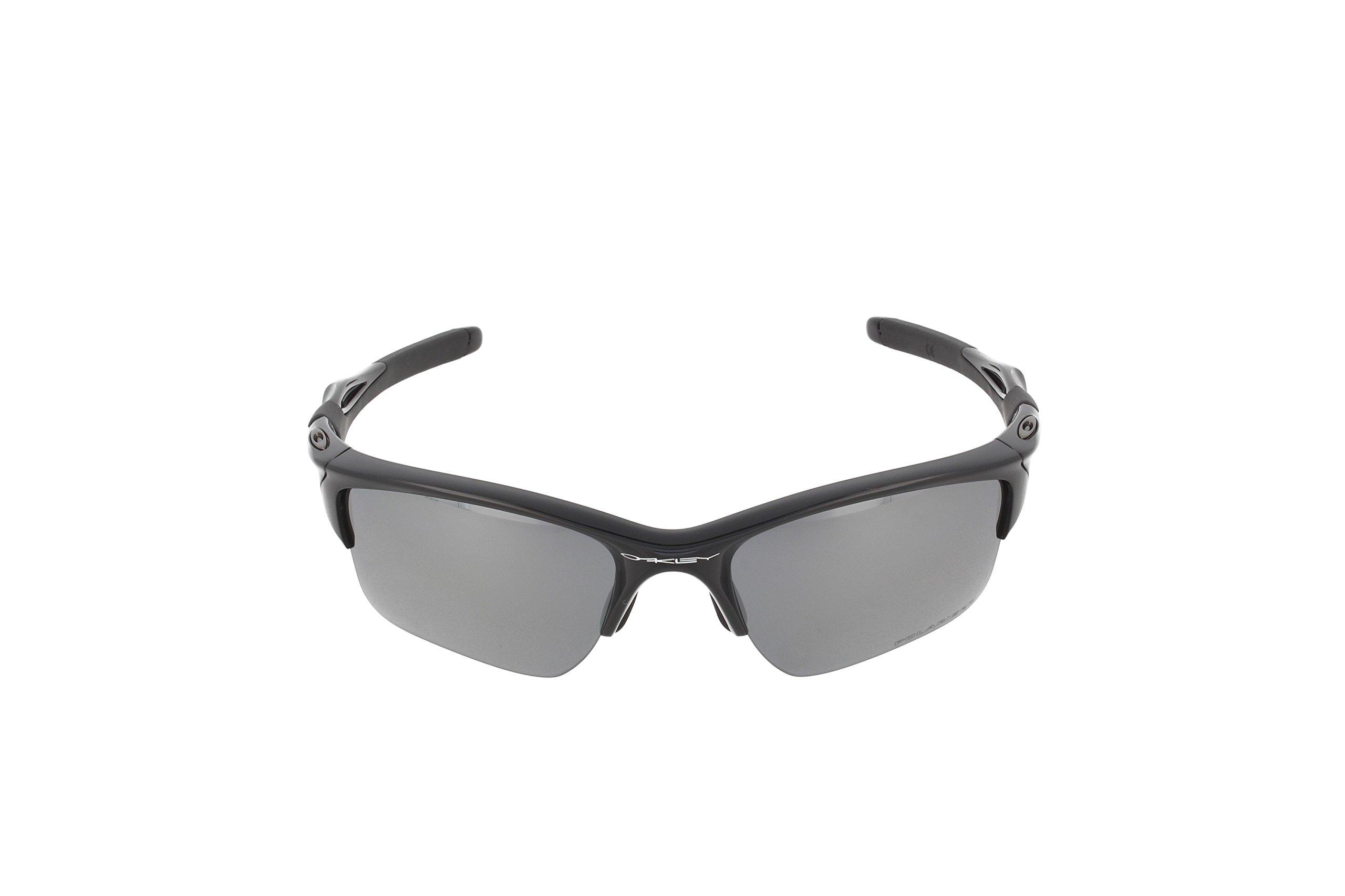 Oakley Mens Half Jacket 2.0 XL OO9154-05 Polarized Sunglasses 58mm, Polished Black Frame/Black Iridium Polarized Lens, 62 mm by Oakley (Image #2)