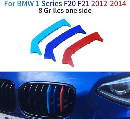 Maiqiken 3D Coche Rejillas Frontales Cover Hebilla para 1 Serie F20 F21 116i 118i 125i M135i 2012-2014 8 Rejillas un Lado ABS 3 Colores