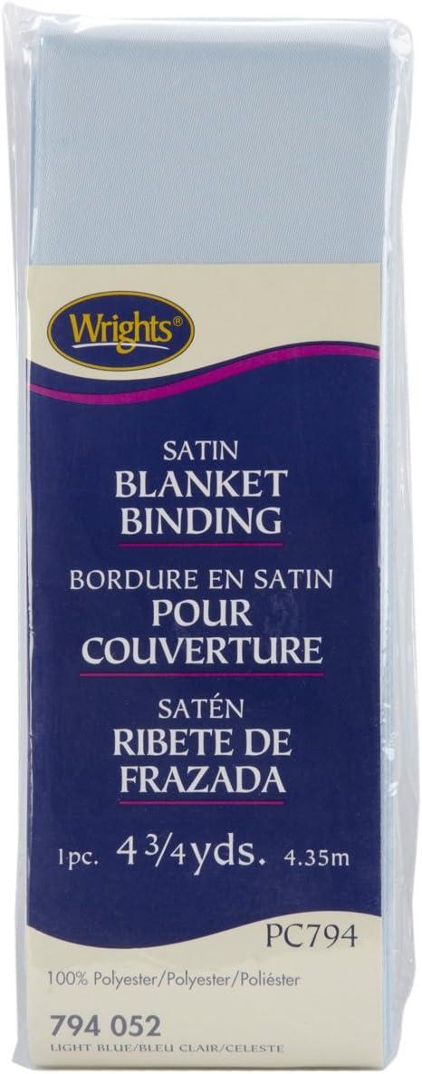 Wrights 117-794-055 Single Fold Satin Blanket Binding 4.75-Yard Navy