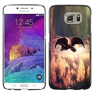 Be Good Phone Accessory // Dura Cáscara cubierta Protectora Caso Carcasa Funda de Protección para Samsung Galaxy S6 SM-G920 // Painting Indie Rock Feather God