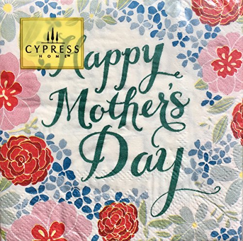 Cypress Home Happy Mother's Day Cocktail Beverage Paper Napkins, 40-ct