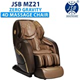 JSB MZ21 4D Massage Chair Zero Gravity for Home Stress Relief With Soft Rollers Music Bluetooth (L Track)