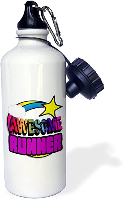 wb/_201394/_1 Multicolored 3dRose Shooting Star Rainbow Awesome Runner-Sports Water Bottle 21oz