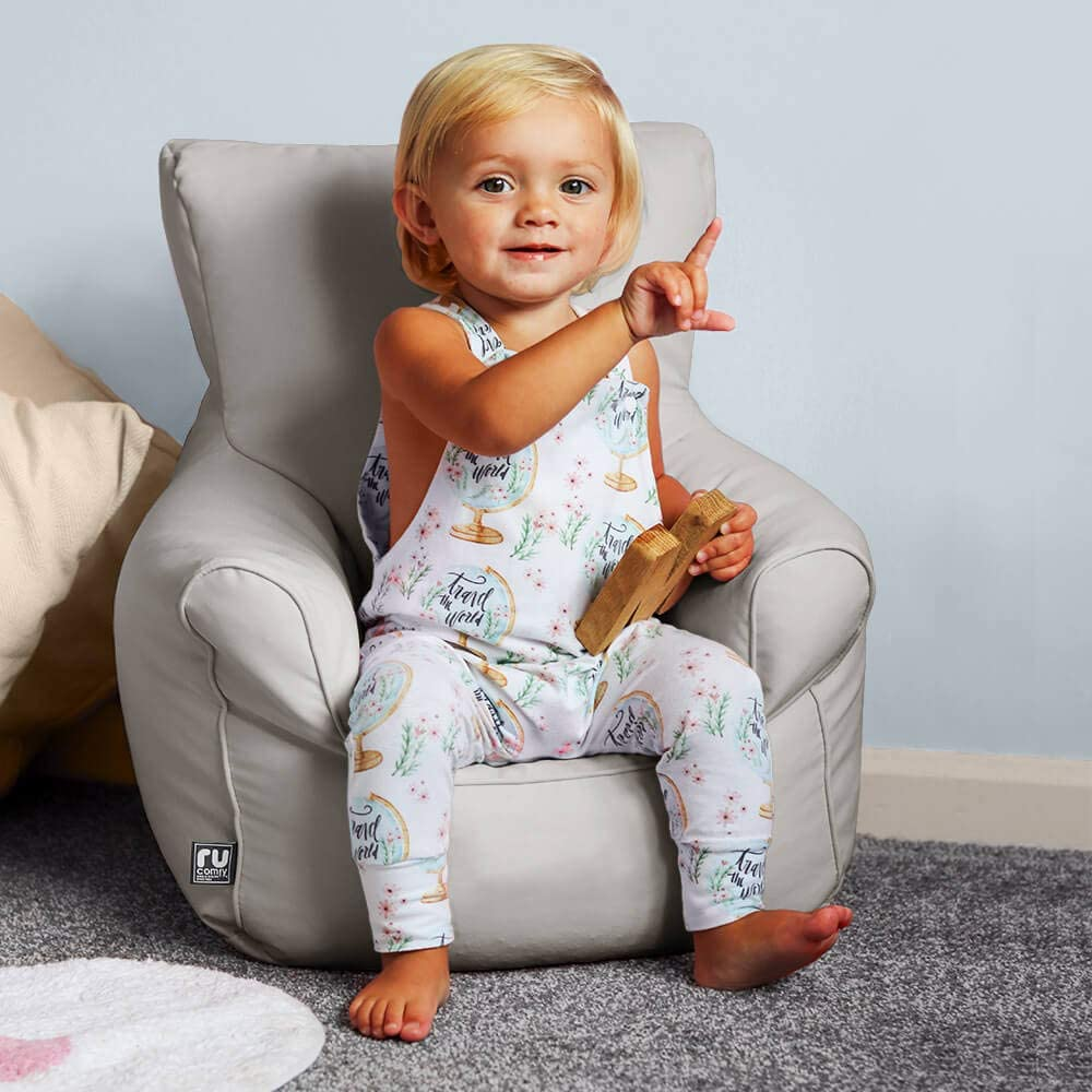 Trend Toddler Armchair Bean Bags (Platinum Grey) Purple