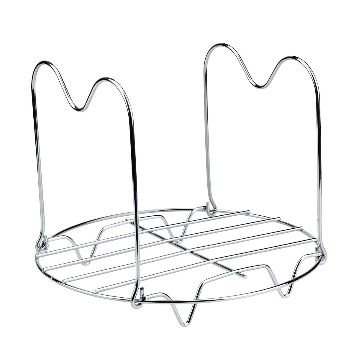 Aiduy Steamer Rack Trivet with Long Handles Compatible with Instant Pot 6 or 8 Quart Pressure Cooker, Stainless Steel Steam Rack Stand Metal Trivet for Easy Pot Removal by Aiduy (Image #2)
