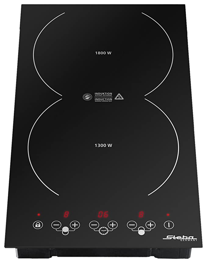 Steba IK 200 - Placa (Integrado, indución eléctrica, Vidrio y cerámica, Sensor, 3100W, 29 cm)