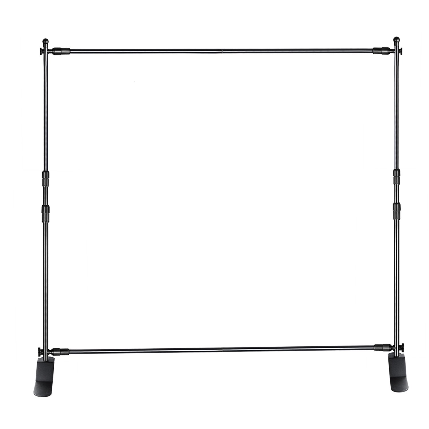 Neewer Telescopic Tube Background Support Pole and Stand with Heavy Duty Base for Photography Backdrop and Trade Show Display, 10 x 8 feet Adjustable Frame (W x H), Aluminum Alloy