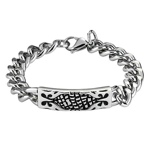 Amazon.com: Gnzoe Jewelry Pulsera de acero inoxidable para ...