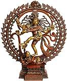 Nataraja in Om (AUM) - Brass Statue