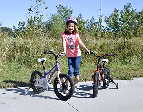 359e117dc0fb Royalbaby Space Shuttle Lightweight Magnesium Kid's Bike with Disc Brakes  for Boys and Girls, 16 inch with Training Wheels and Kickstand, Black