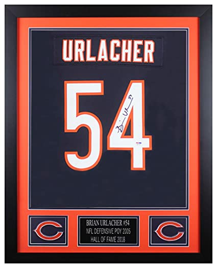 check out 1a440 7073c Brian Urlacher Autographed Blue Chicago Bears Jersey ...
